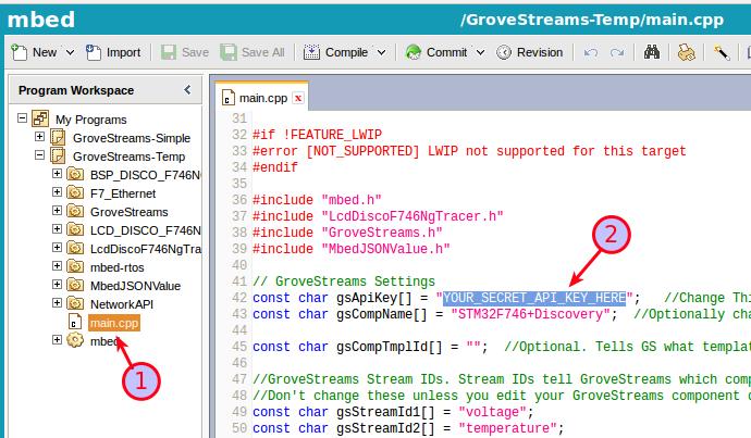 GroveStreams STMicroelectronics - Advanced